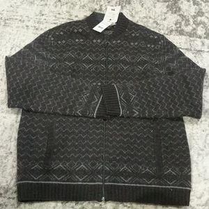 NWT black brown 1926 wool blend cardigan